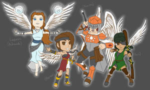 Kid Icarus OCs by athorment