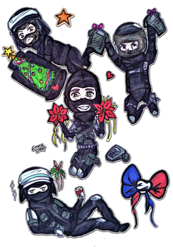 Siege Christmas - GIGN by Emme-Gray