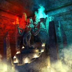 Mystic Shrine by LoserMcCrappyart