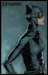 Catwoman - Meow - Colour by chamzi