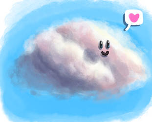 Happy little cloud by GoodBadArtist