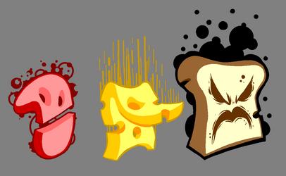 Evil food by GoodBadArtist