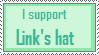 I support Link's hat stamp by Black-Kat-55