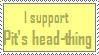 I Support Pits Headthing Stamp by Black-Kat-55
