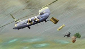 Derpy Hooves in a CH-47 by TatterTailArt