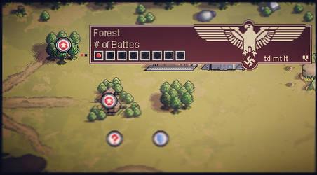Pixel Panzers Game - Map Screen Artwork by PixelPanzers