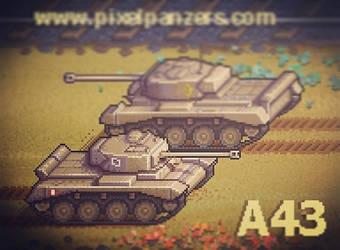 Pixel Panzers - A43 Comet Lv2 Medium Tank by PixelPanzers
