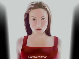 Natalie Portman in illustrator by freeman