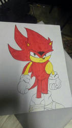 Fire Sonic Drawing by loserhq