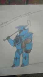 Lantern Series-Shovel Knight (Blue Lantern) by loserhq