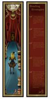 Alice in Vintage Bookmark by PaperVooDoo