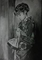 A3 Kimono Pencil by tikira