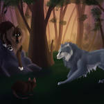 Felvargs- Learning to hunt by deadlylupine