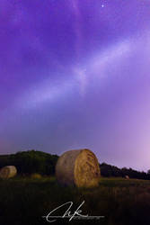 The bale of hay and milky way by Koljan