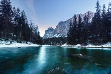 Winterzeit am Gruner See by Koljan