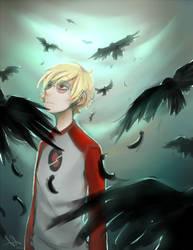 one crow sorrow, two crows joy by Life-Writer