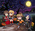 Halloween Crossover [Commission] by 0les-x