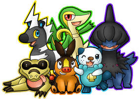 Black and White Pokemon Team by PokemonMasta
