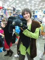 Hiccup and Toothless OTAKON12 by PokemonMasta