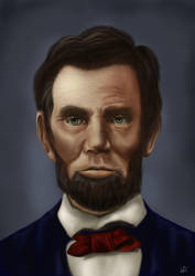 Abraham Lincoln portrait by ahria92