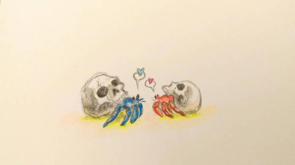 sugar skulls by TheRiseFluffyFox