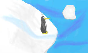 Penguin On Ice by TheConstructor
