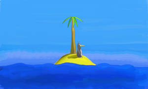 Penguin On Sunny Island by TheConstructor