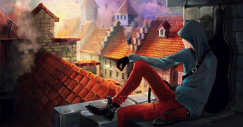 Killer on the roof by KimTi