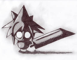 Cloud Strife by Jeatles