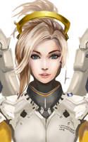 Mercy - Overwatch by castcuraga