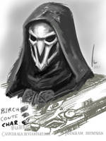Sketchbook 2017 Page 2 : Reaper - Overwatch by castcuraga