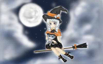 Happy Halloween in the sky by Siilentx22
