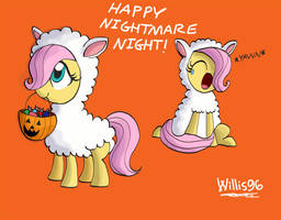 Flutters Filly Nightmare Night Costume by WillisNinety-Six