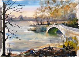 Spring Bridge by GeorgeVanyan