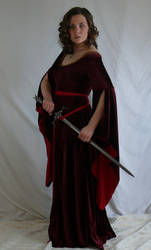 medieval dress with sword by magikstock