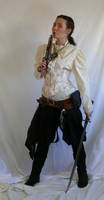pirate lass with flintlock by magikstock