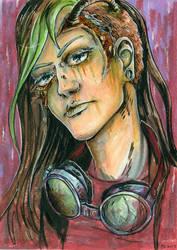 Cyberpunk Gal by JuliaBusko