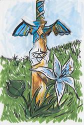 The Master Sword marker sketch by JuliaBusko
