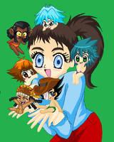 Cute GX Chibis and...me by Shioriko