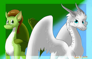 G: Dragonesses of a feather by Indiana-INDY-Viola