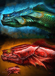 Water dragons by cgfelker