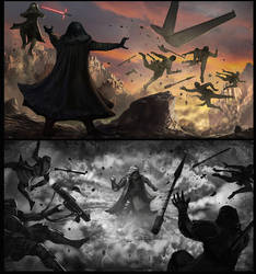 Luke vs The Knights of Ren by cgfelker