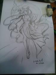 Black Lady sketch by littleowl88