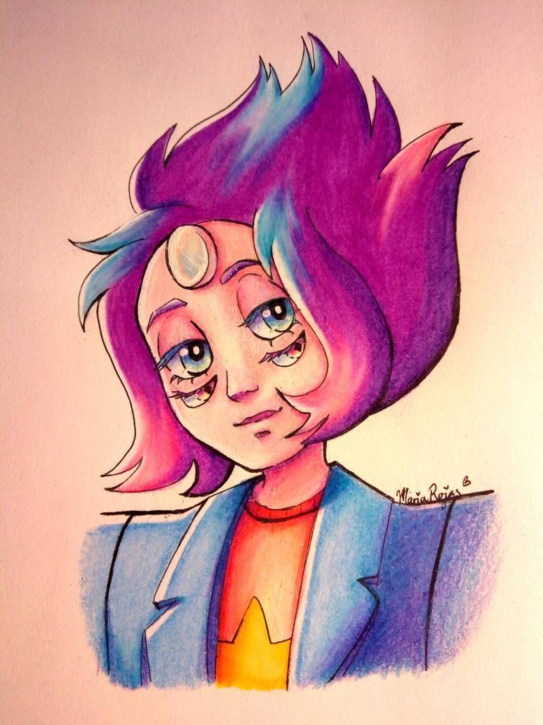 Ya no había hecho dibujos en tradicional :'0 He aquí el regreso jajaja. Rainbow Quartz-Steven Universe