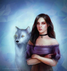 Yennefer and The White Wolf by EyeLashh