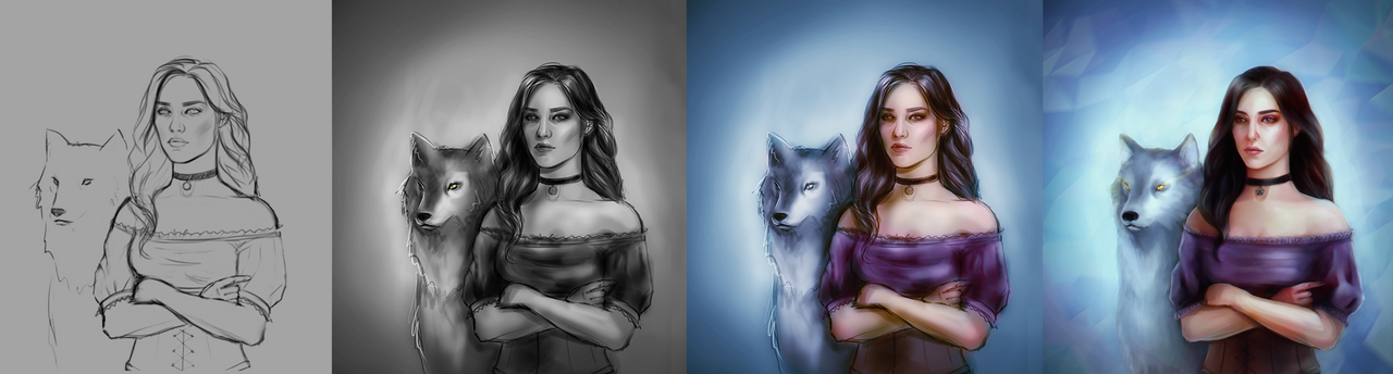 drawing process by EyeLashh