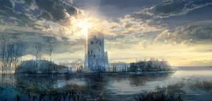 The Witcher 3 Wild Hunt Tower by Scratcherpen
