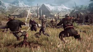The Witcher 3 Wild Hunt Geralt fighting multip by Scratcherpen