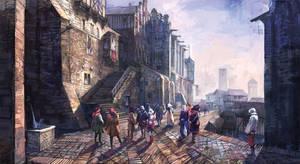 The Witcher 3 Wild Hunt City by Scratcherpen