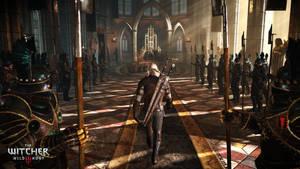 Witcher 3 Wild Hunt Geralt visiting the Emperor by Scratcherpen